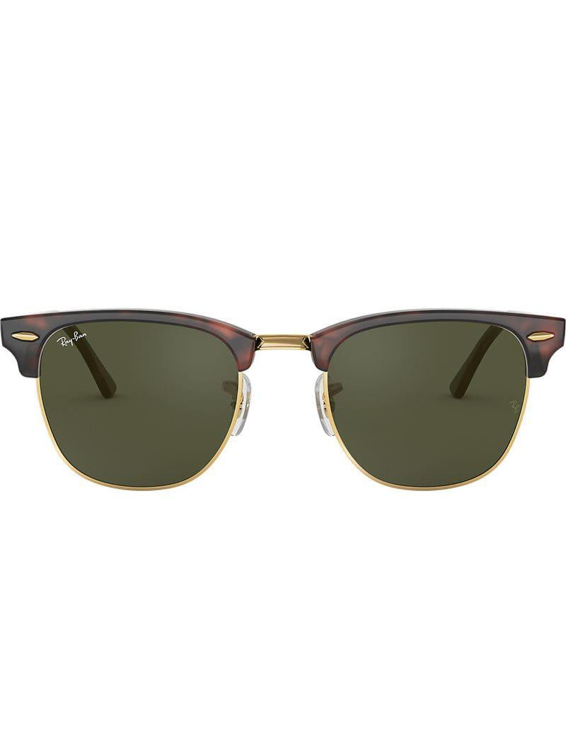 42b55f8a5e Ray-Ban Clubmaster Classic Sunglasses in Brown for Men - Lyst