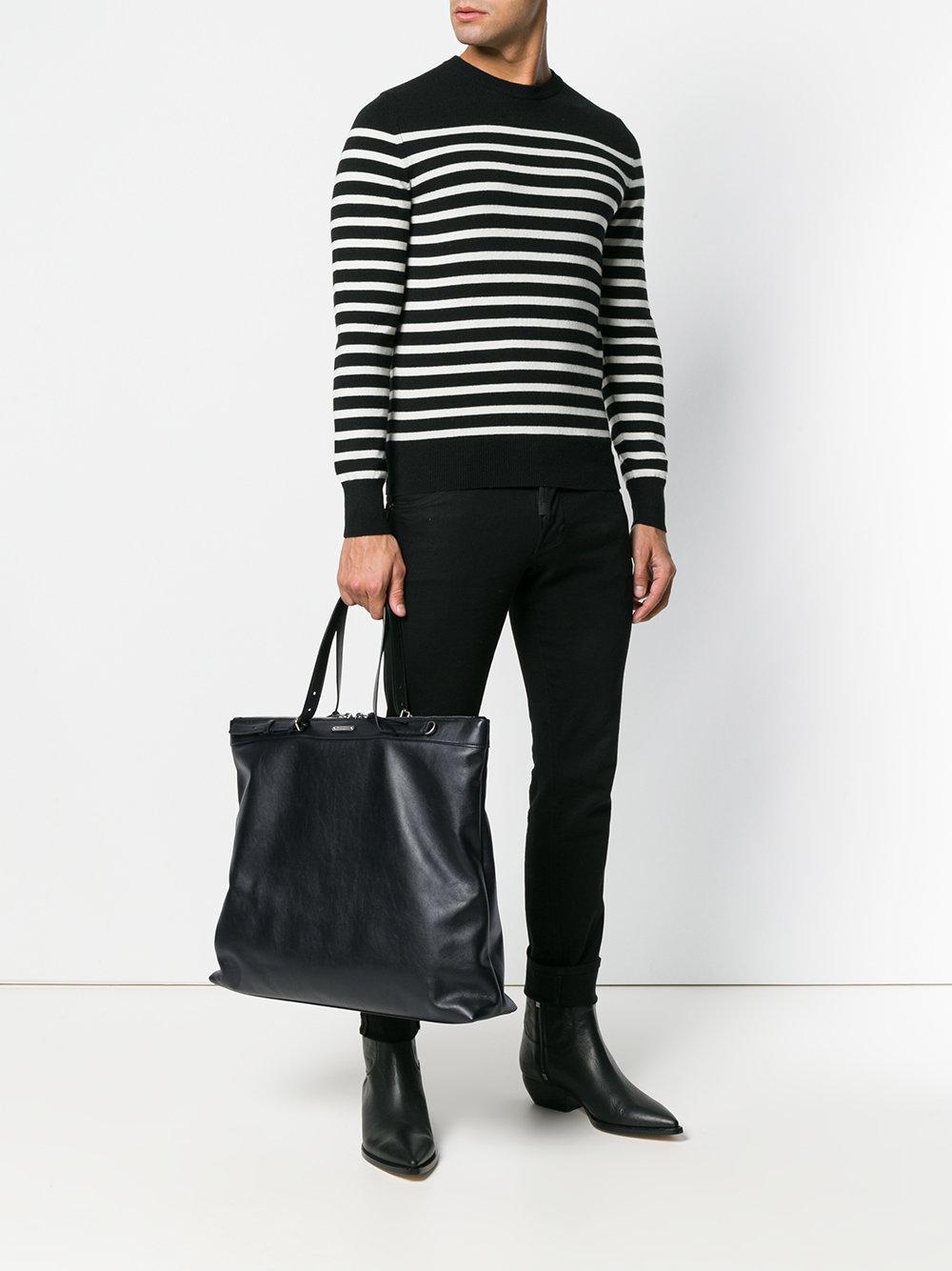 Lyst - Sac cabas ID Saint Laurent pour homme en coloris Noir 027bf981294