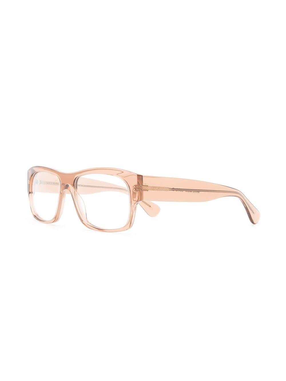 c236830c04 Lesca - Brown Rectangle Frame Glasses - Lyst. View fullscreen