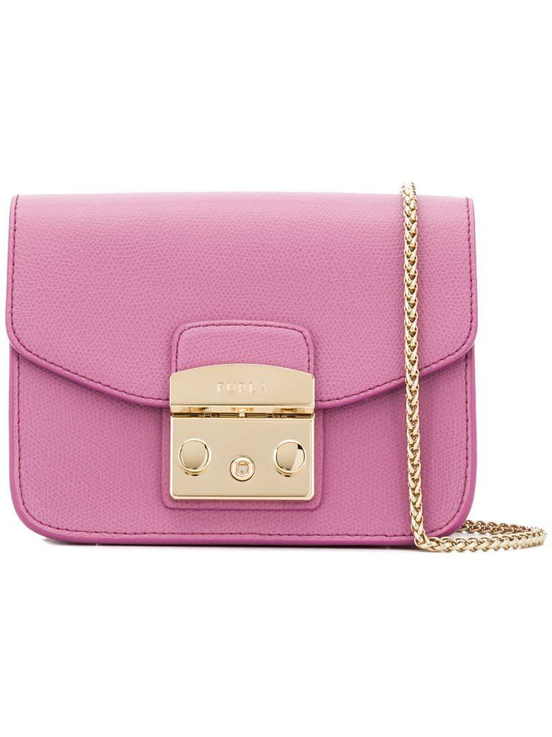 e6ea7512f Furla Metropolis Mini Bag in Pink - Lyst
