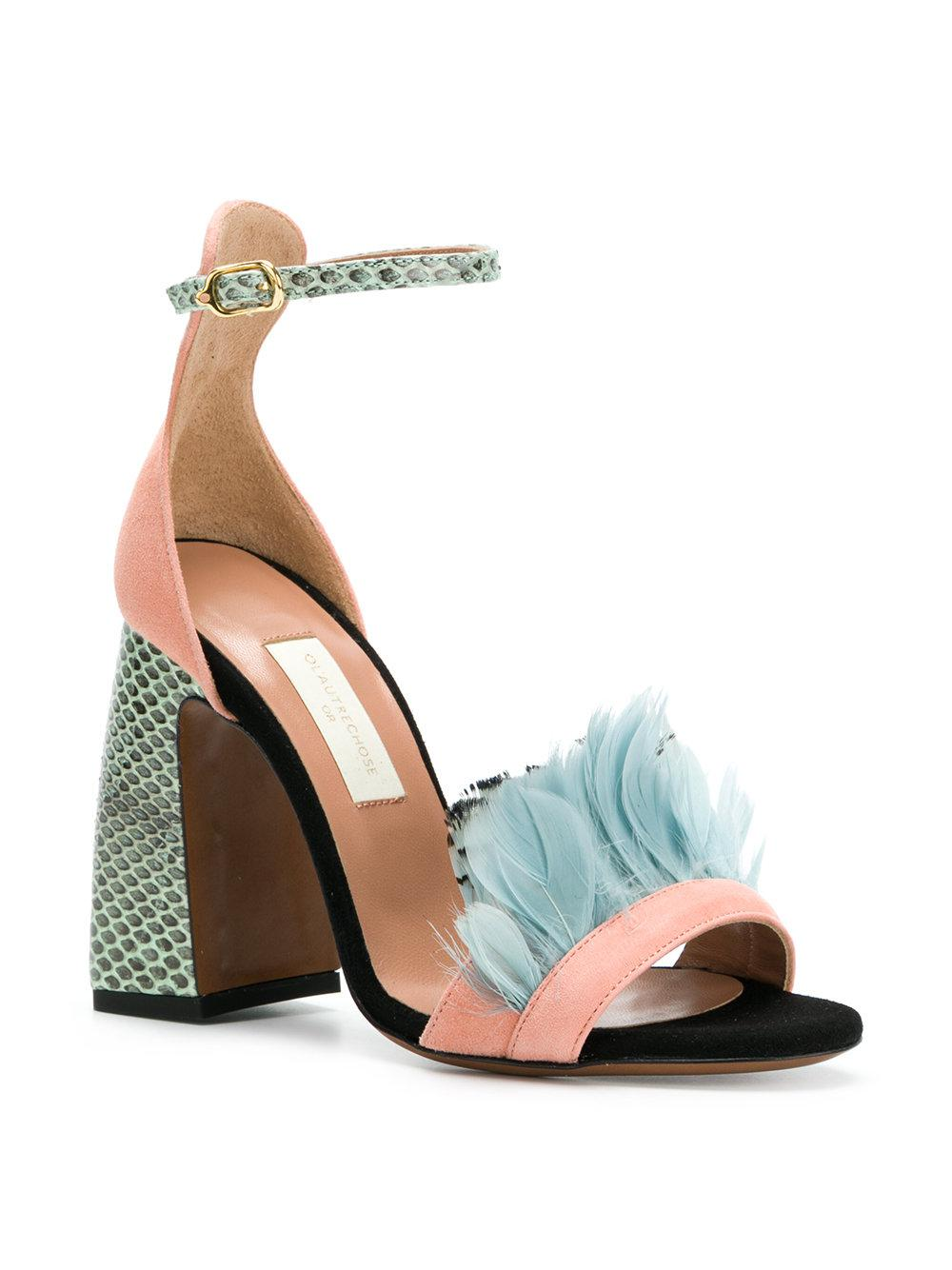 snakeskin feather sandals - Multicolour L'autre Chose dHsMuuIKxn