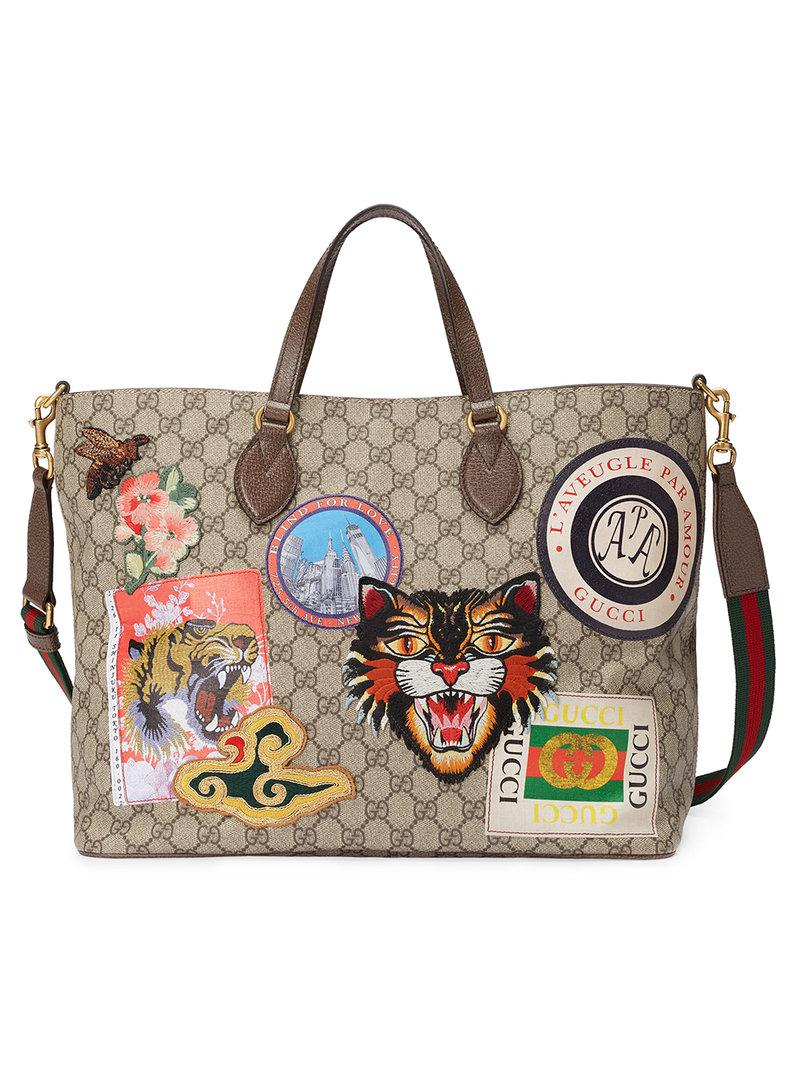 c98a530ca533 Gucci Borsa Shopping 'courrier' In Tessuto Gg Supreme - Lyst