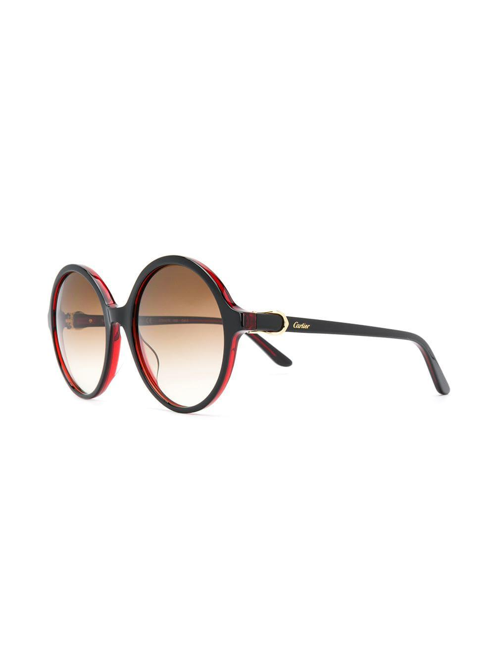 ab83909fd422 Cartier C Décor Sunglasses in Red - Lyst
