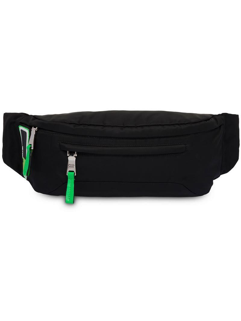 f7185107cff46e Lyst - Prada Technical Fabric Belt Bag in Black for Men