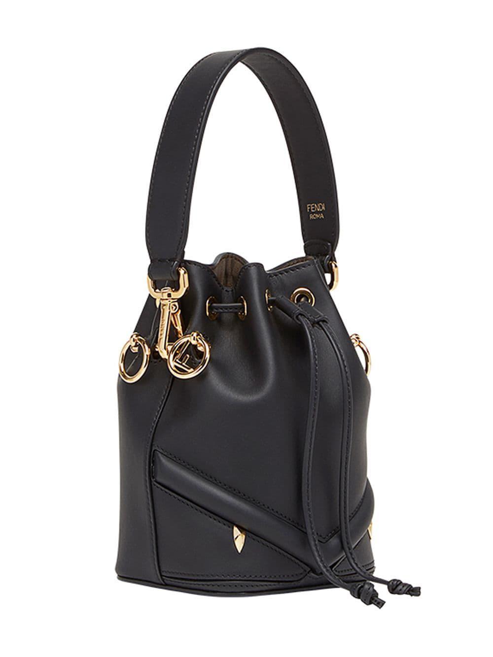 dfa9fbfeb326 Lyst - Fendi Mini Mon Tresor Bag in Black