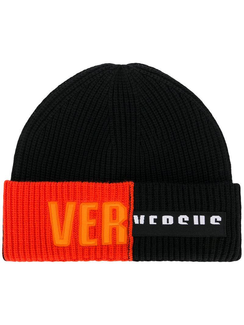 logo patch beanie hat - Black Versus cjKmTELbe