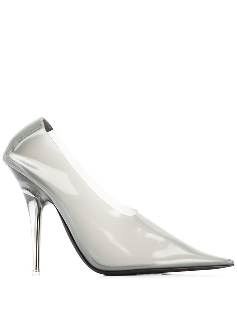 75d42b15700 Yeezy Transparent Pumps in Gray - Lyst