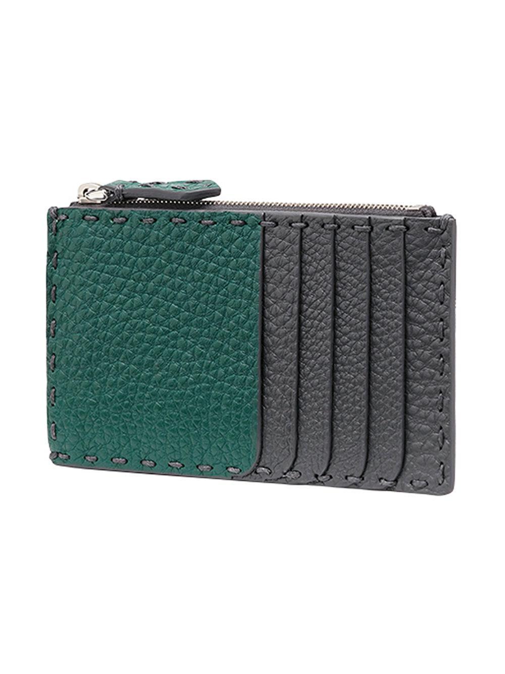 4ca636a87fb0 Lyst - Fendi Selleria Zipped Wallet in Gray for Men