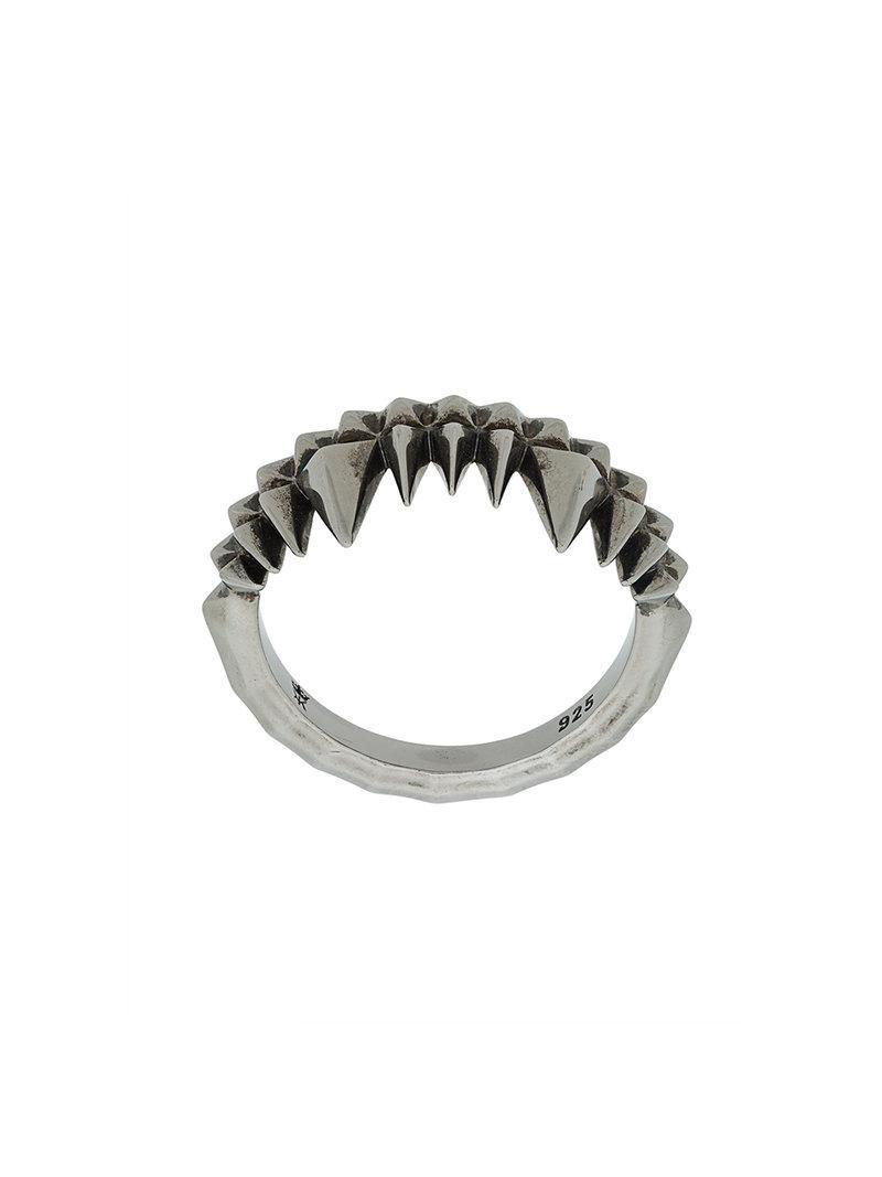 Kasun London Crocodile Bite ring - Metallic N0Hagp
