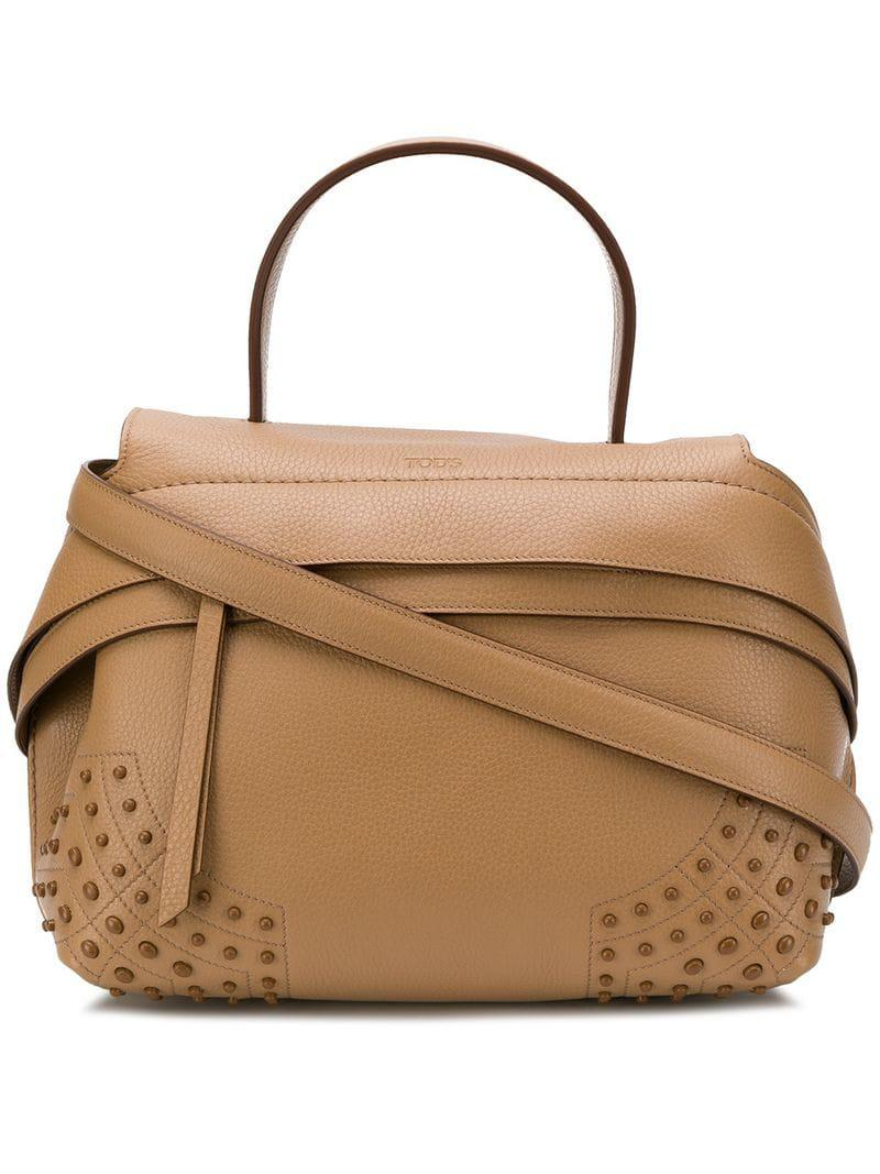 Lyst En Main Petit Marron Tod's Coloris Sac Wave À np4qS1n