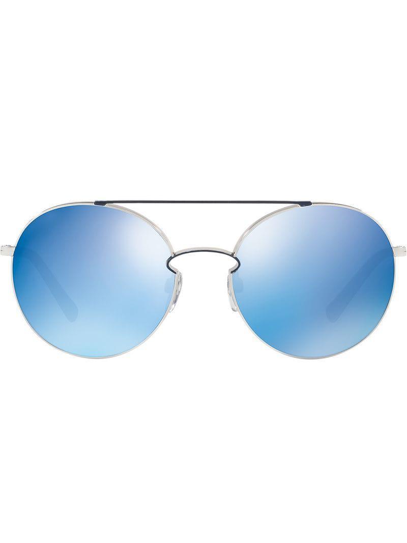 0acea9483b Valentino Eyewear. Gafas de sol con montura redonda Valentino Garavani de  mujer de color azul