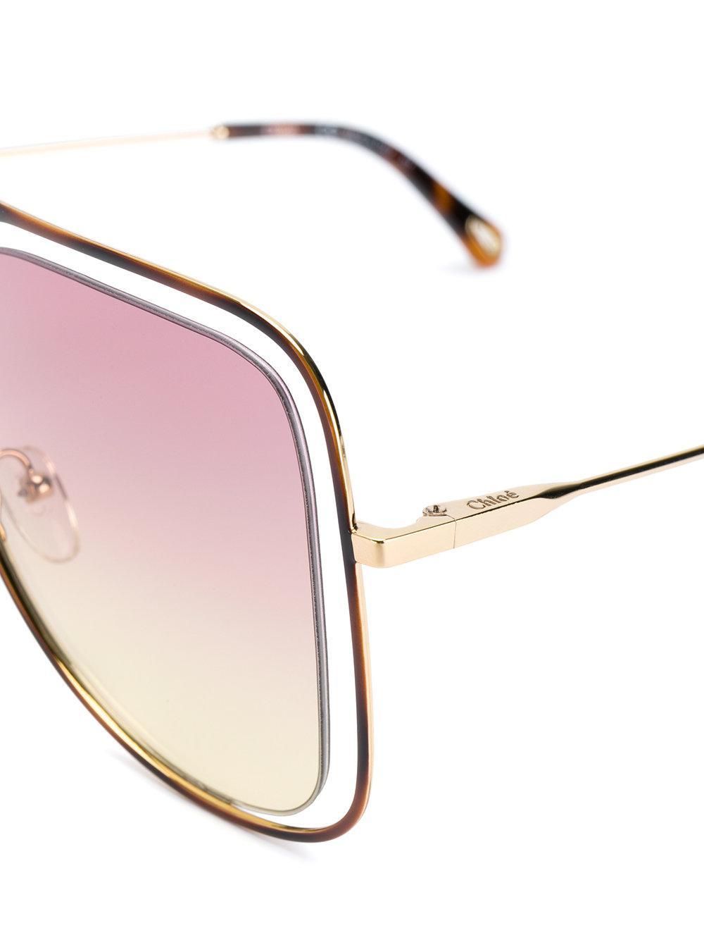 4445b74130c Chloé - Metallic Floating Frame Sunglasses - Lyst. View fullscreen