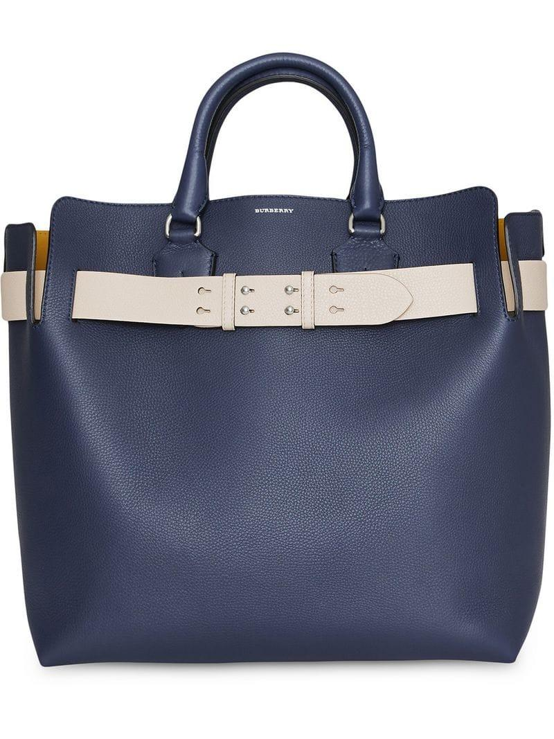 7204e583a1d05 Burberry The Large Leather Belt Bag in Blue - Lyst