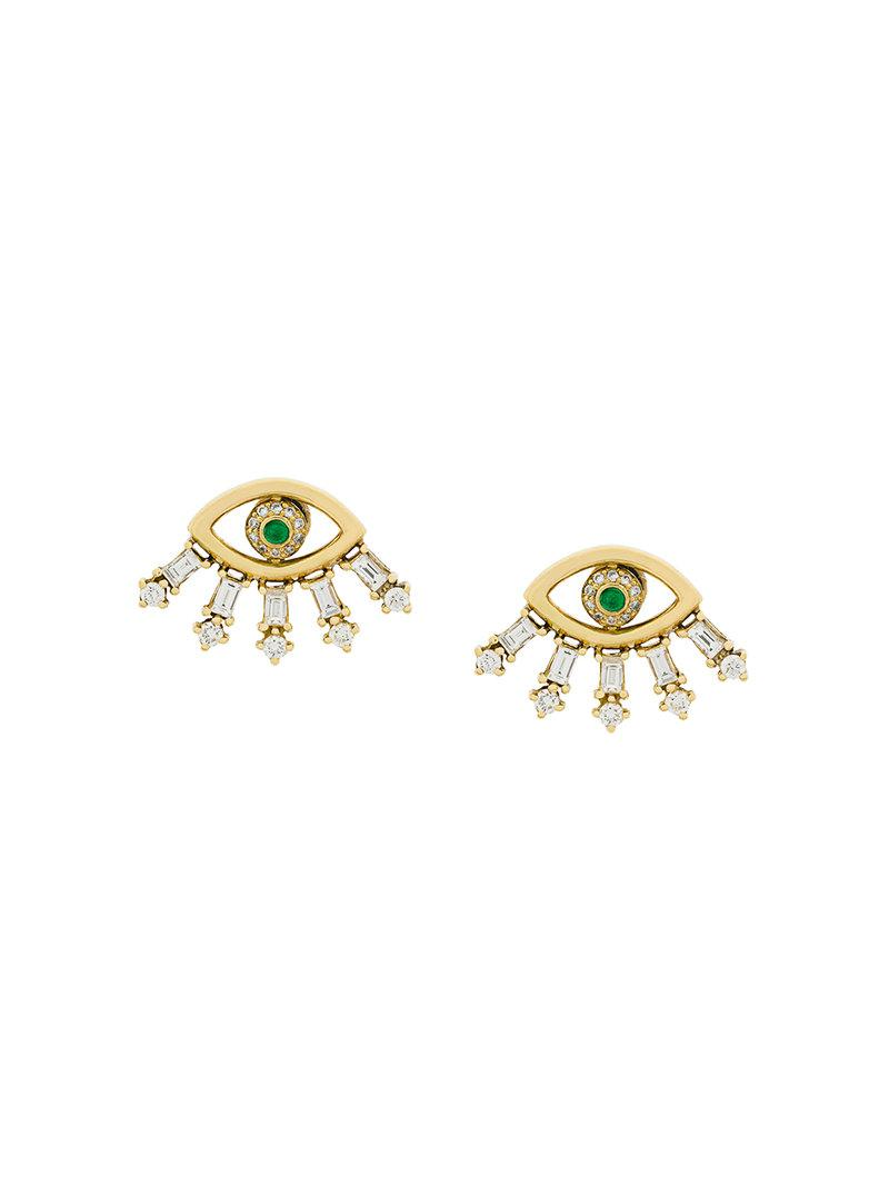 Ileana Makri Baguette Sleepy Eye earring - Metallic QDboBU
