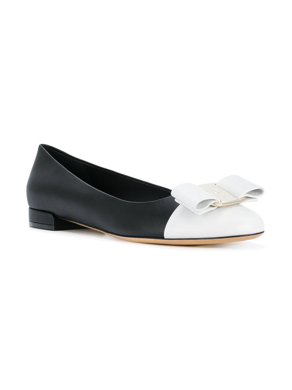 61e3d26d482d Ferragamo Varina Ballerina Shoes in Black - Save 24.1014799154334 ...