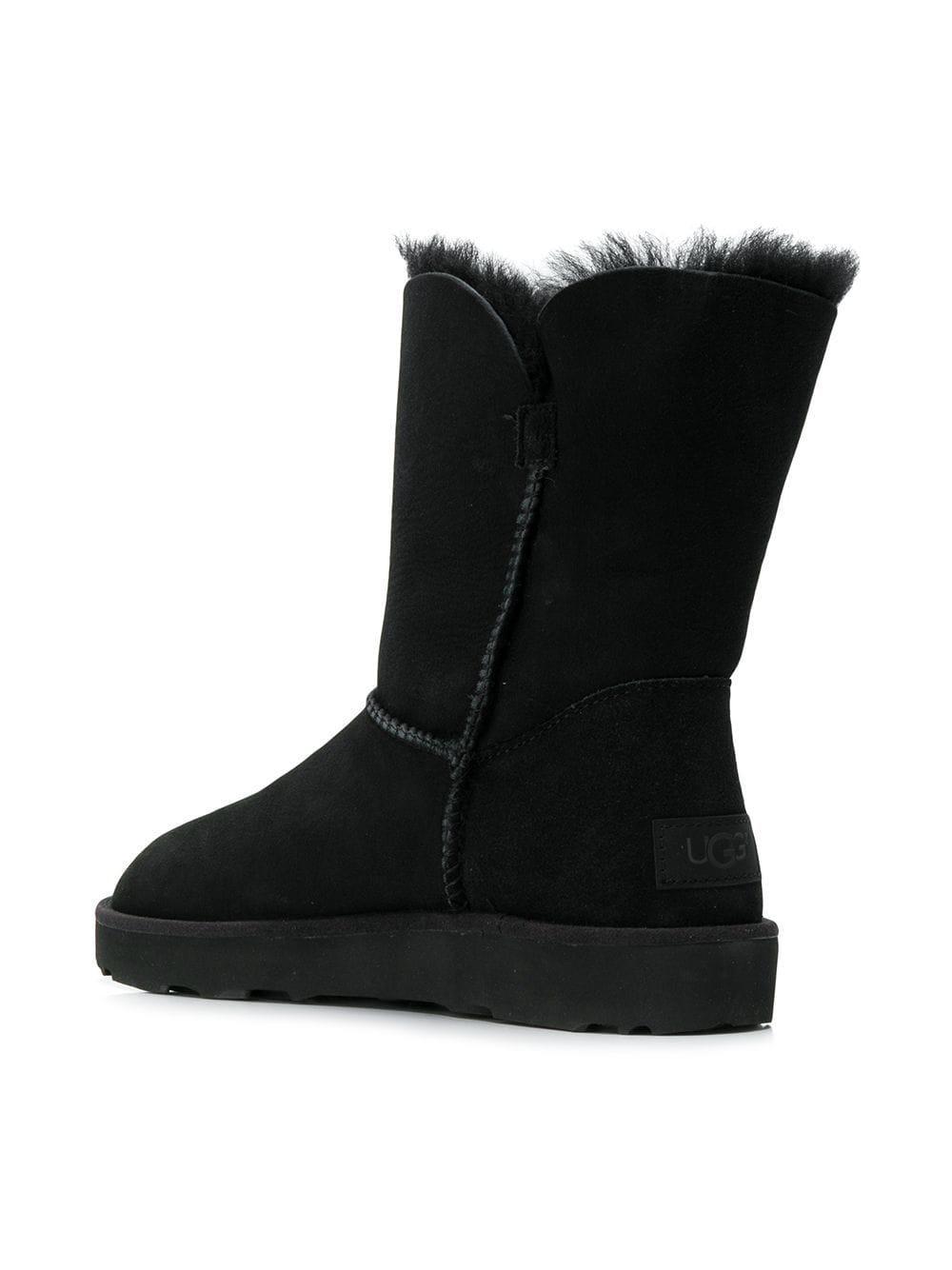 Ugg - Black Classic Cuff Short Boots - Lyst. View fullscreen
