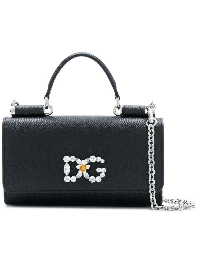 Dolce   Gabbana Mini Sicily Von Bag in Black - Lyst 5e00bfdf3f517