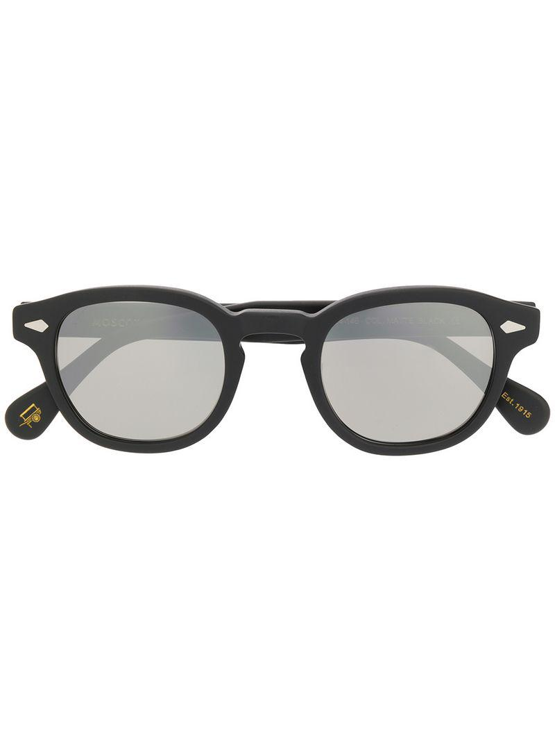 109401efed2 Moscot Lemtosh Round Sunglasses in Black - Lyst