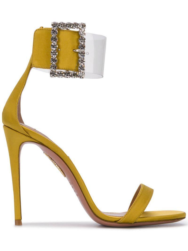 a14d2b95d Lyst - Aquazzura High Stiletto Sandals in Yellow