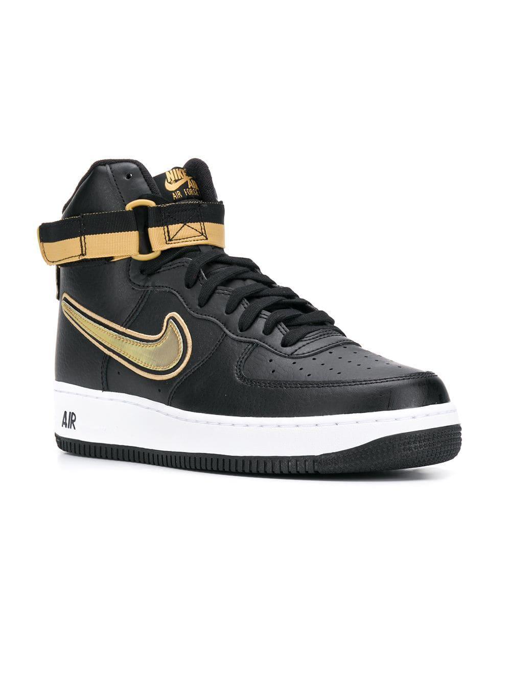 Nike - Black Air Force 1 Hi-top Sneakers for Men - Lyst. View fullscreen da6dc5ad6