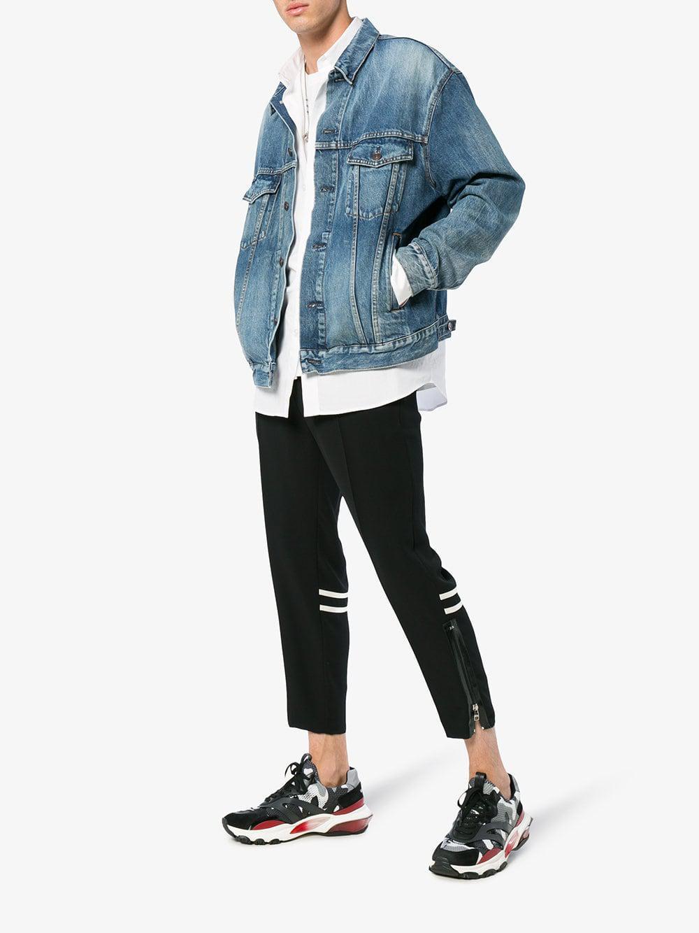 77b276f5b9859 Valentino - Gray Garavani Bounce Sneakers for Men - Lyst. View fullscreen