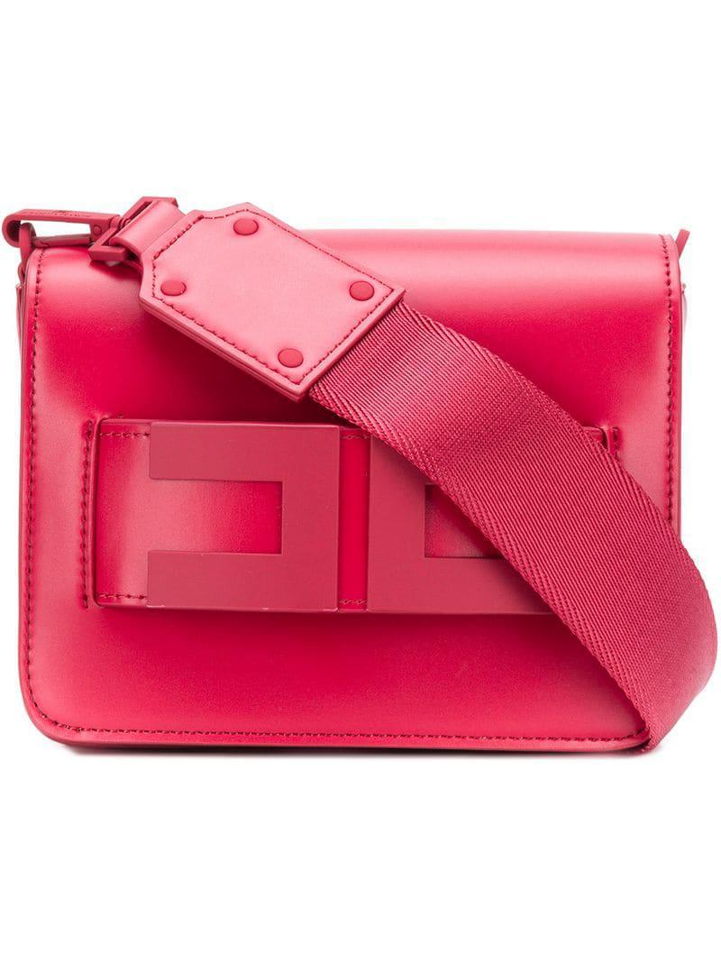 Elisabetta Franchi Women S Red Square Shaped Clutch Bag