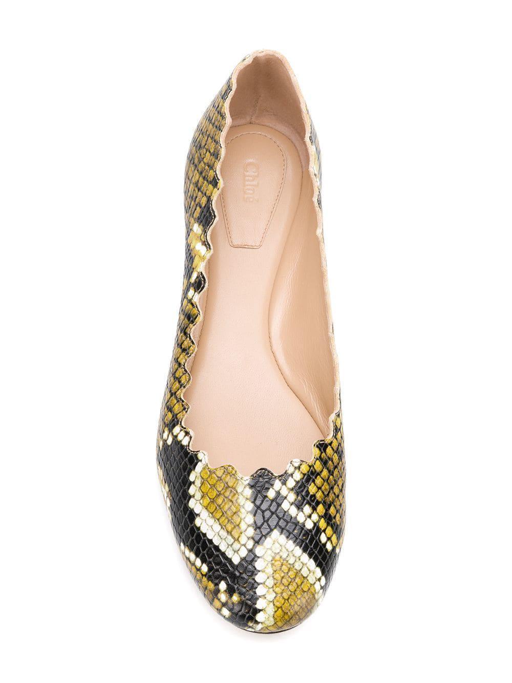 ea3554c19 Chloé - Yellow Lauren Ballerina Shoes - Lyst. View fullscreen