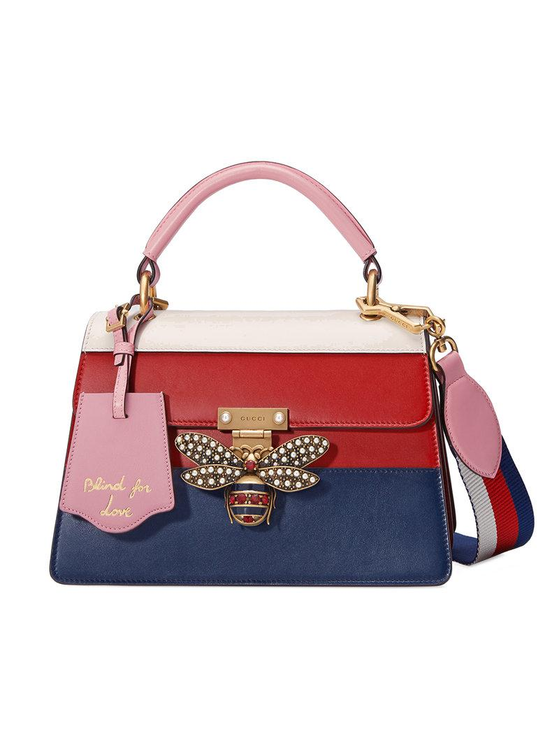 f6f7422db32a Gucci - Red Queen Margaret Leather Top Handle Bag - Lyst. View fullscreen