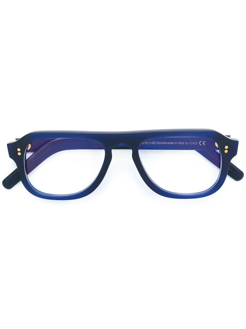 Cutler & Gross Wide Framed Glasses in Blue - Lyst