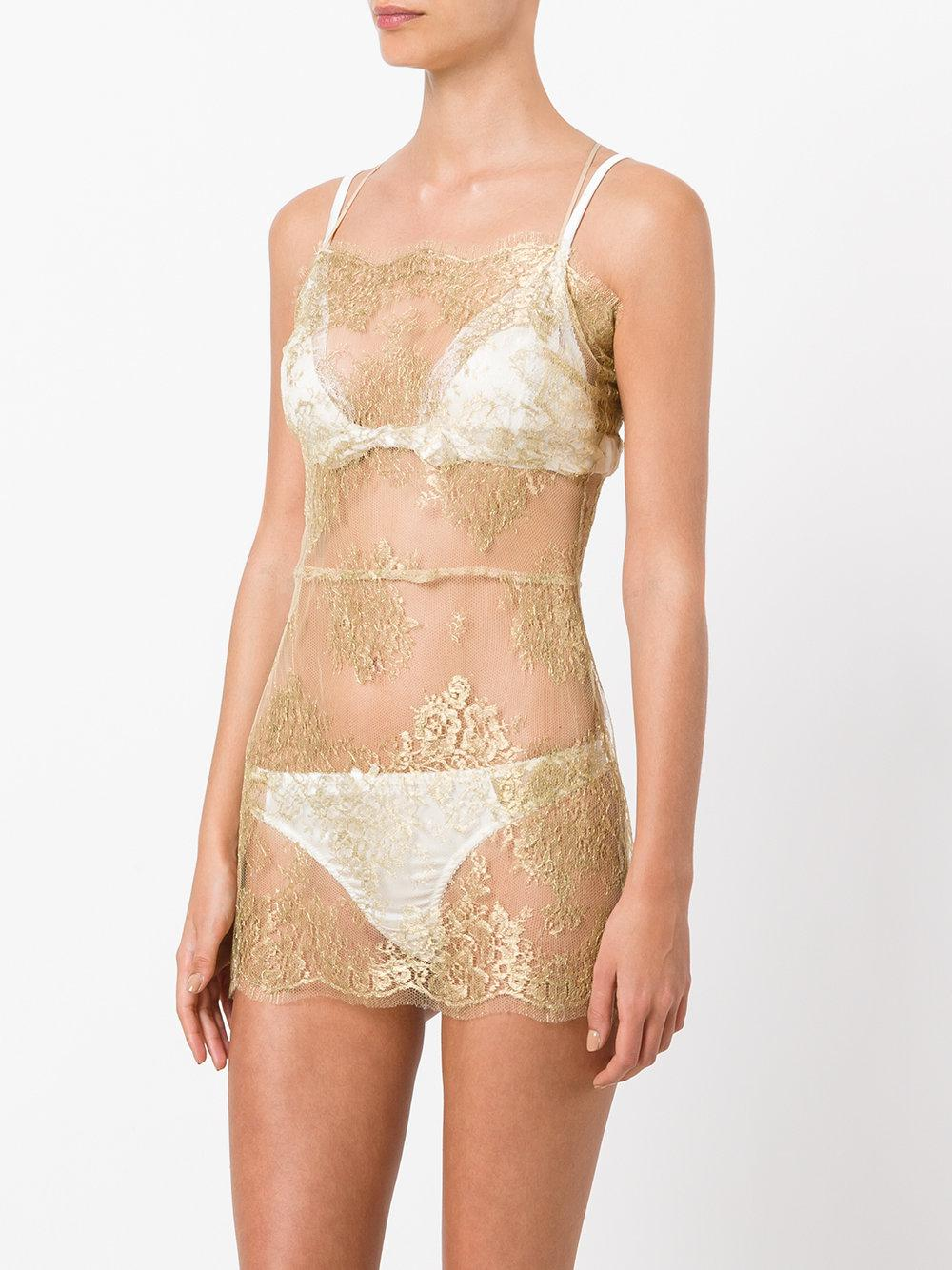 Clearance Store Cheap Price Harlow short slip - Metallic Gilda & Pearl Purchase Cheap Shopping Discounts Online T2xaAD2zpf