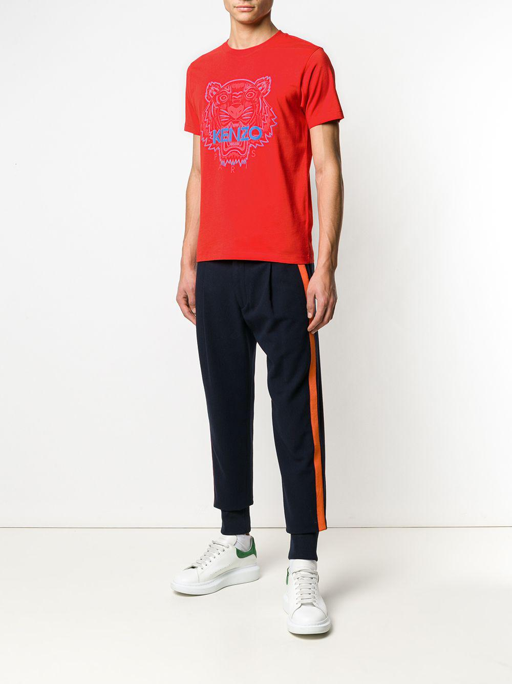 9174bafc8b5d KENZO Tiger T-shirt in Red for Men - Lyst