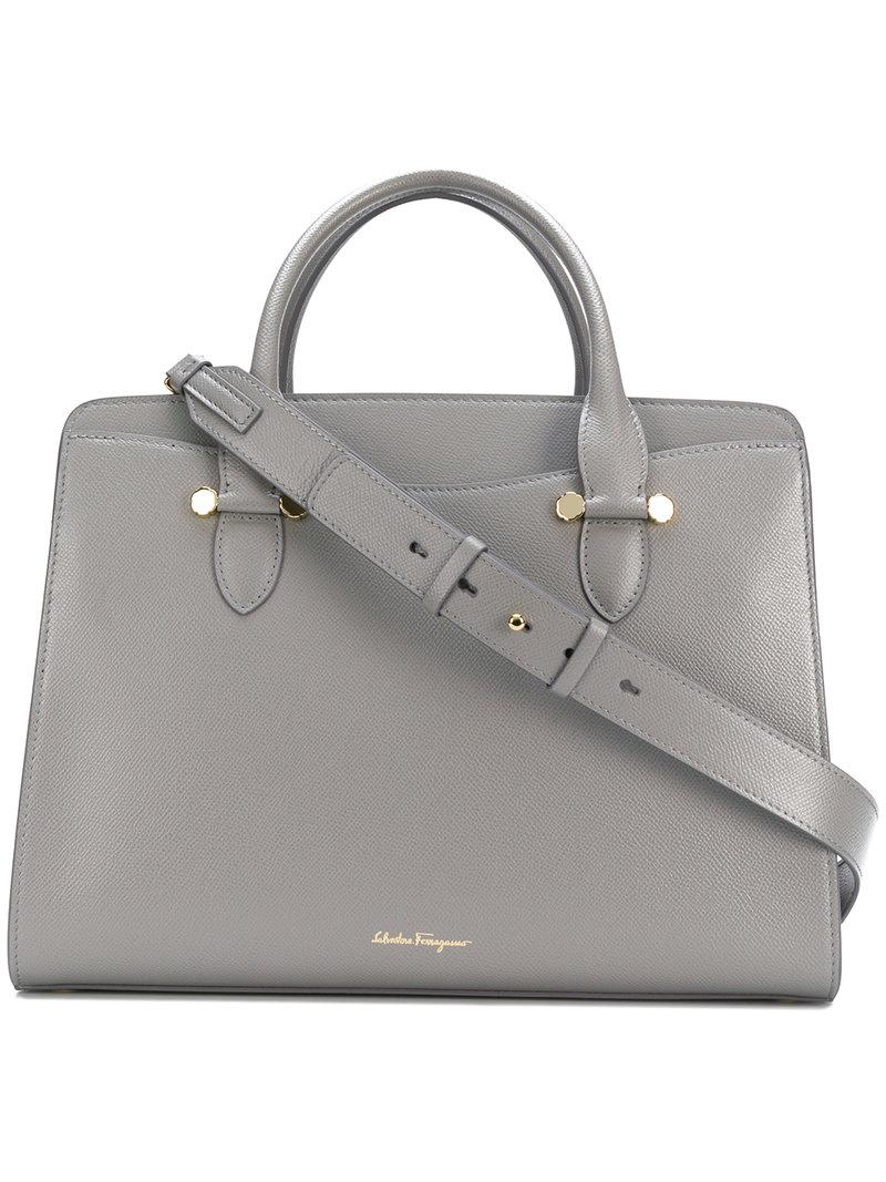 58c1e75809e Ferragamo Medium Today Bag in Gray - Lyst
