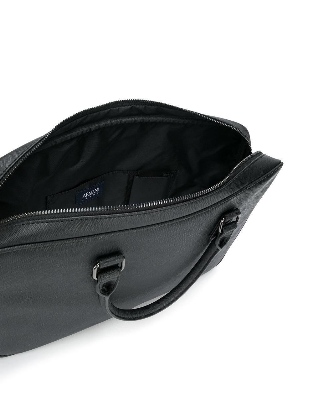 Lyst - Armani Jeans Crossbody Laptop Bag in Black for Men 330f80b11d9df