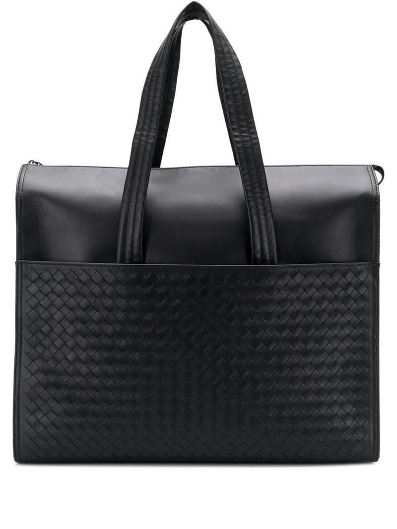 74b5f39d2b41 Bottega Veneta Borsa Shopper Bag in Black for Men - Lyst