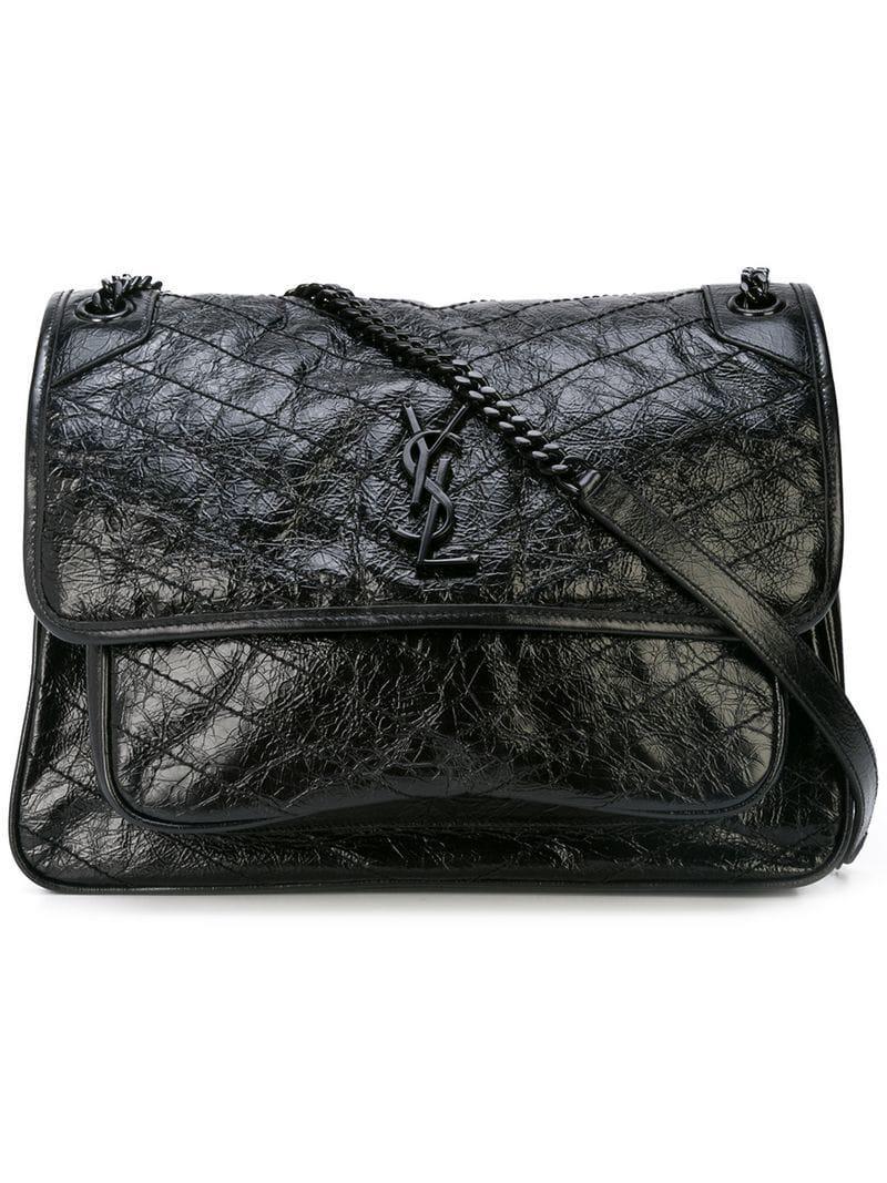 Lyst - Saint Laurent Quilted Shoulder Bag in Black 16317096cb