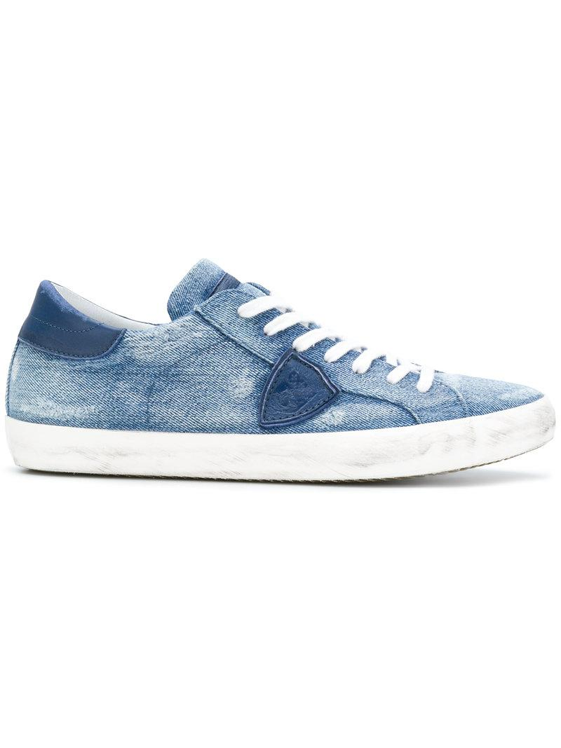 Philippe model Lace up denim sneakers CHWSg