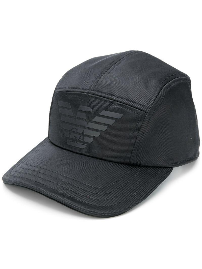 1fa637606007e Lyst - Emporio Armani Panelled Logo Cap in Black for Men