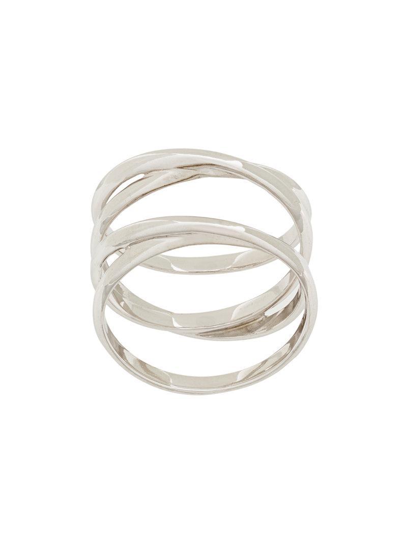 Double Row ring - Metallic Maria Black GWYtMsr5HF