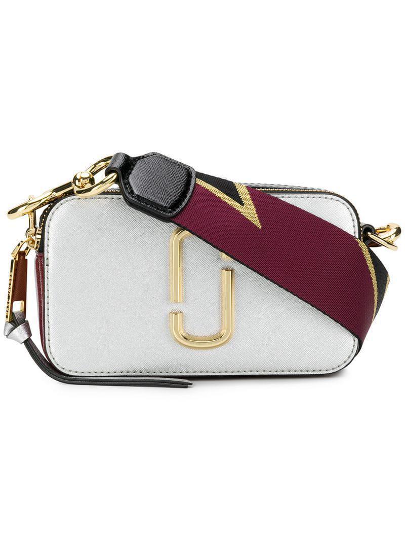 Lyst - Petit sac porté épaule Snapshot Marc Jacobs en coloris Métallisé 07ef6116476f