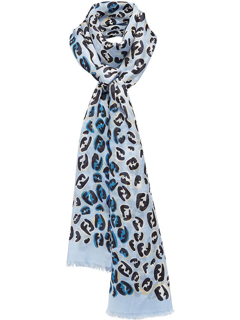 splash FF maxi stole scarf - Pink & Purple Fendi f2biXHoA