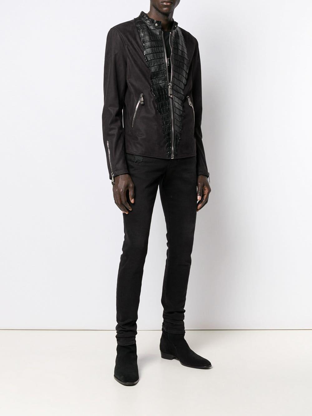 ffc399b6b9 Lyst - Philipp Plein Luxury Motorcycle Jacket in Black for Men