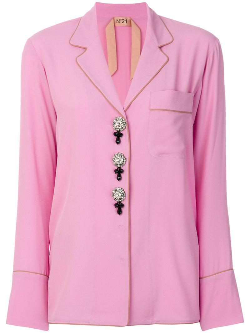 pajama style shirt - Pink & Purple N°21 Free Shipping Footlocker Clearance Recommend Cheap Sale Finishline mxXeW8C