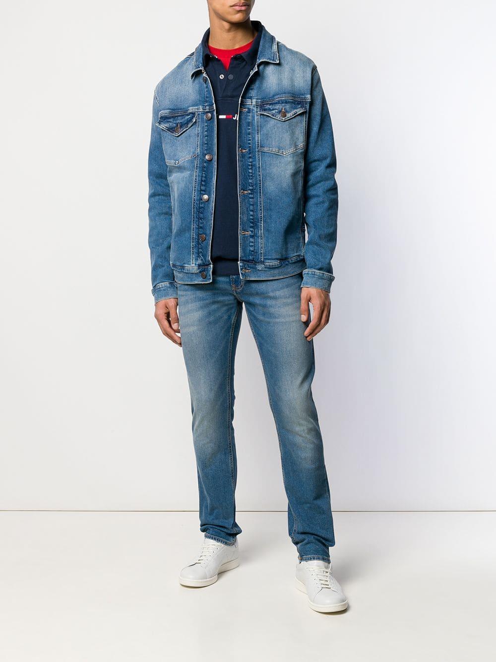 99cfc95fe718 Lyst - Tommy Hilfiger Classic Denim Jacket in Blue for Men