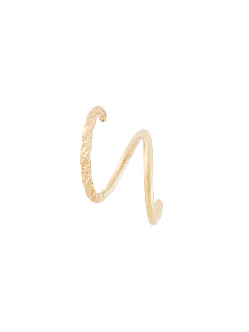 Maria Black Diamond Cut Twirl earring - Metallic IIA5MJC