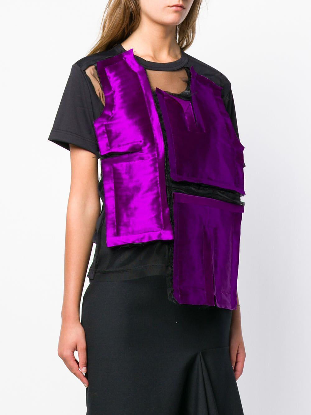 36c337435c81 Comme des Garçons Deconstructed T-shirt in Purple - Lyst