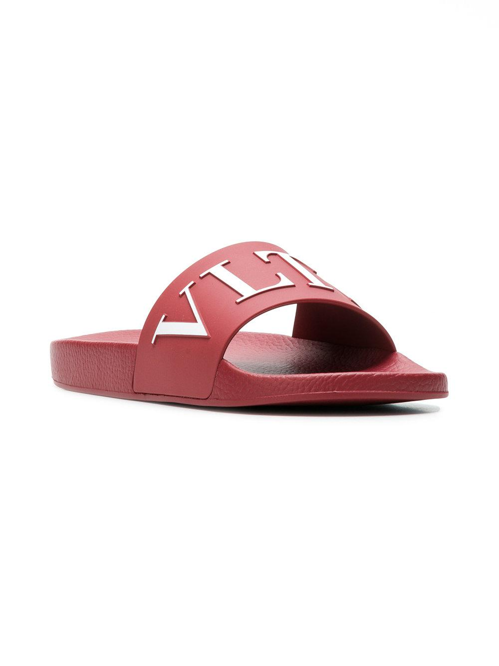 Valentino logo print slides outlet online shop recommend cheap price wwkQKAzSA
