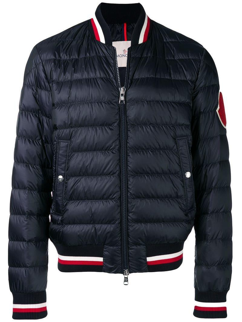 e1eef4c713e9 Lyst - Moncler Zipped Padded Jacket in Blue for Men