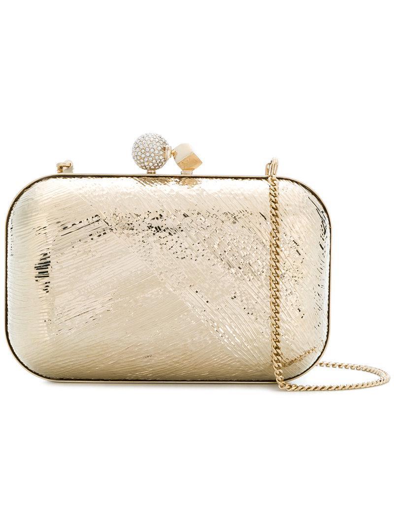 4d5f00aefd35 Jimmy Choo Cloud Clutch Bag in Metallic - Lyst