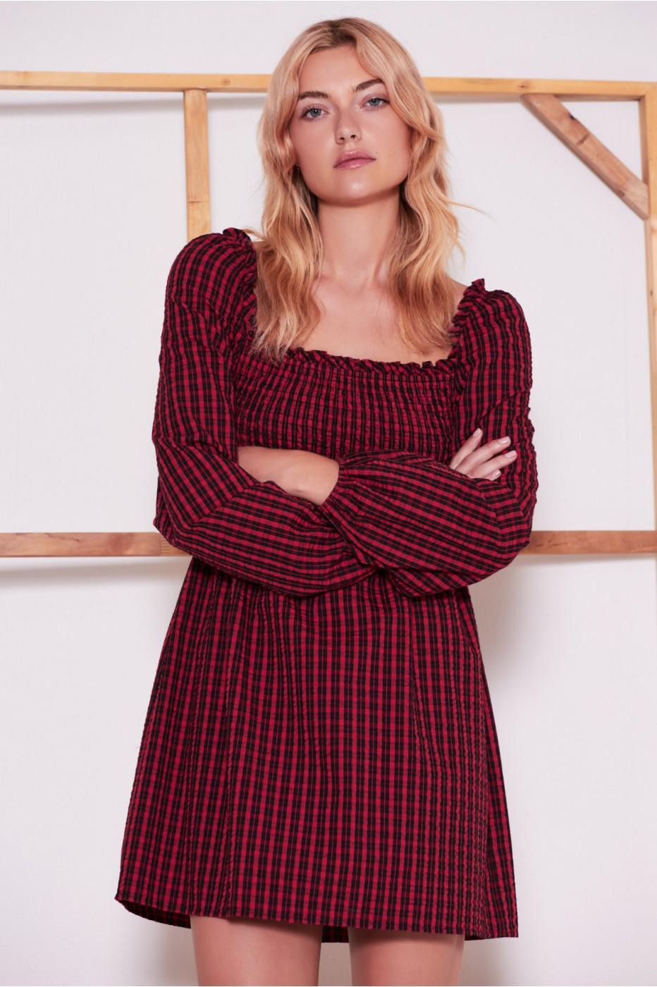 Lyst - The Fifth Label Campus Long Sleeve Dress in Red bb81c0e01
