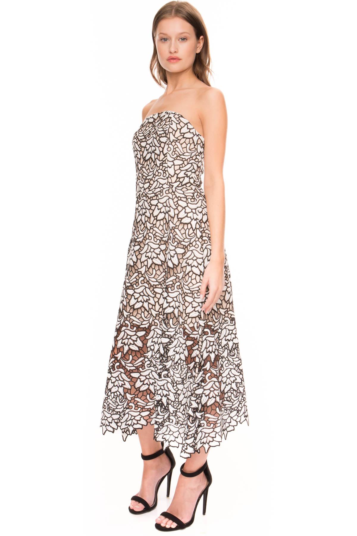 a3a25efe78 Lyst - Keepsake True Love Lace Strapless Dress in Black